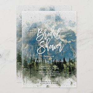 mountains fir trees  bridal shower invitation starting at 2.51