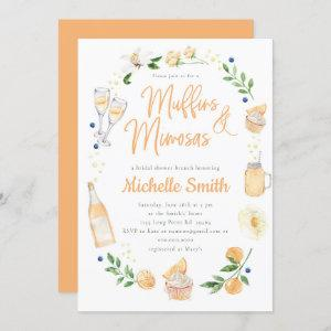Muffins and Mimosas Bridal Shower Brunch Party  Invitation starting at 2.55