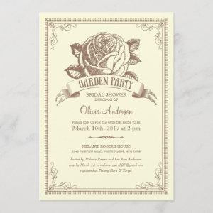 Multi-purpose Vintage Garden Party Invitations starting at 2.82