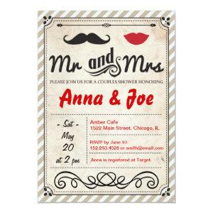 Mustache and Lips Couples Shower Invitation starting at 2.82