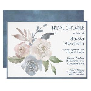 Muted Floral Bouquet | Pastel Rose Bridal Shower Invitation starting at 2.40