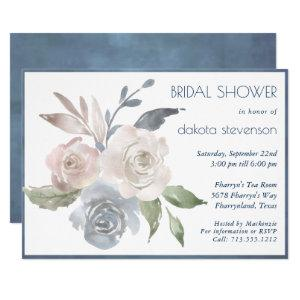 Muted Floral Bouquet | Soft Rose Bridal Shower Invitation starting at 2.40