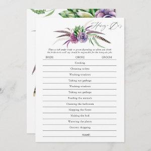 Mystical Succulents Bridal Shower Game Invitation starting at 2.51