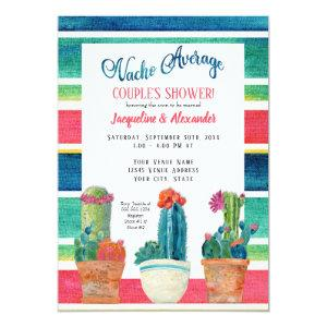 Nacho Average Couples Shower Floral Desert Cactus Invitation starting at 2.66
