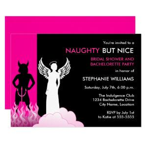 Naughty But Nice Bachelorette Party Invitation starting at 2.55
