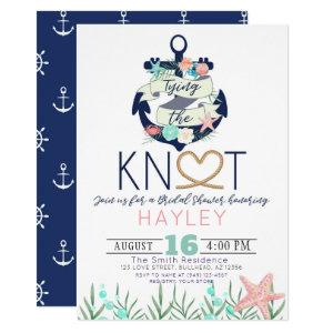 Nautical Anchor Tying the Knot Bridal Shower Invitation starting at 2.55