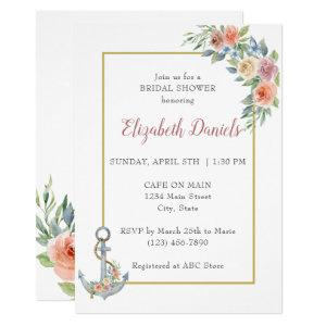 Nautical Anchor Wedding Shower Invitation starting at 2.55