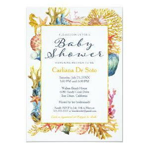 Nautical Beach Seashell Baby Shower Invitation starting at 2.82