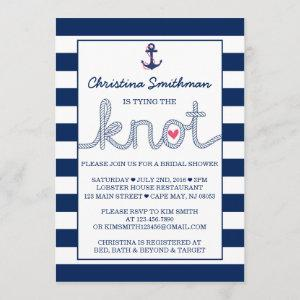 Nautical Bridal Shower Invitation - Tying the Knot starting at 2.66