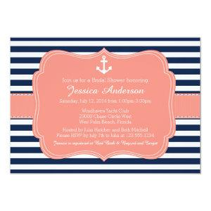 Nautical Bridal Shower or Baby Shower Invitation starting at 2.66