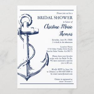 Nautical Navy Anchor Bridal Shower Recipe Request starting at 2.40