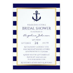 Nautical Navy Blue/White Bridal Shower Invitations starting at 2.35