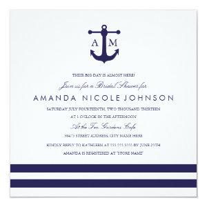 Nautical Navy Bridal Shower Invite starting at 2.41