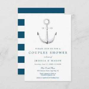 Nautical Navy Couples Shower Invitation Card starting at 1.95
