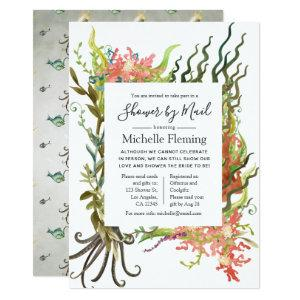 Nautical Seaweed Bridal or Baby Shower by Mail Invitation starting at 2.66