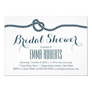 Nautical Tying the Knot Navy Bridal Shower Invitation starting at 2.15