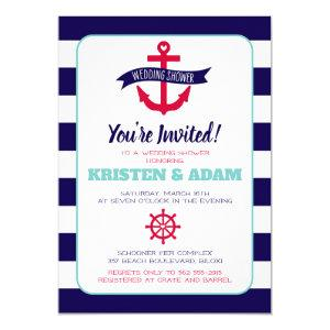 Nautical Wedding Shower Invitation  Anchors Aweigh starting at 2.45