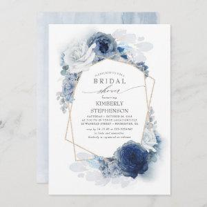 Navy and Dusty Blue Floral Modern Bridal Shower starting at 2.51
