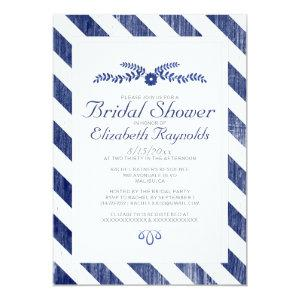 Navy Blue Stripes Bridal Shower Invitations starting at 2.66