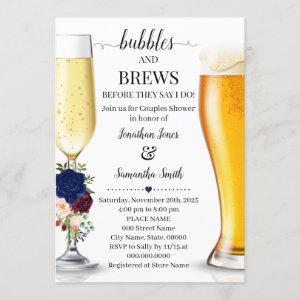 Navy Bubbles and brews before I do couples shower Invitation starting at 2.55