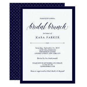 Navy Couture | Elegant Bridal Brunch Invitation starting at 2.51