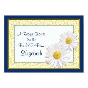 Navy Daisy Recipe Theme Bridal Shower Invitation starting at 2.31