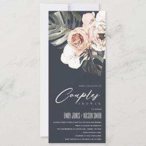 NAVY RUST FLORAL MONSTERA LEAVES COUPLES SHOWER starting at 2.65