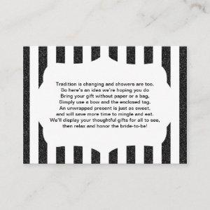 No wrap insert card baby or bridal shower BLACK starting at 0.35