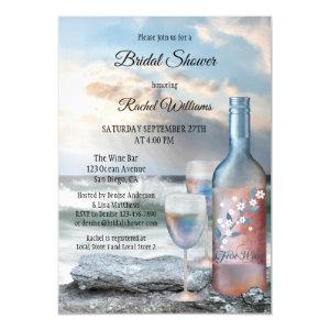 Ocean and Wine Bridal Shower Invitation starting at 2.55