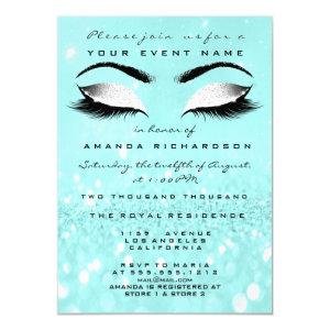 Ocean Makeup White Glitter 16th Bridal Shower Invitation starting at 2.10