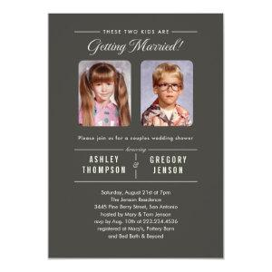 Old Photos Couples Wedding Shower Invitations starting at 2.82