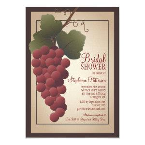 Old World Tuscan Grapevine Wine Bridal Shower Invitation starting at 2.56