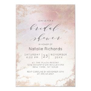Ombre Blush Pink Frosted Foil Trendy Bridal Shower Invitation starting at 2.20