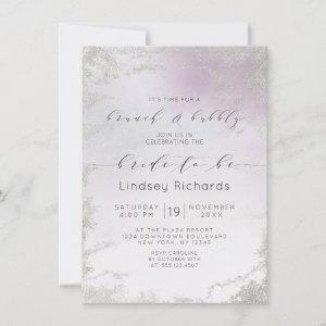 Ombre Light Purple Silver Brunch & Bubbly Shower Invitation starting at 2.20