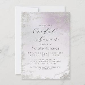 Ombre Light Purple Silver Foil Frost Bridal Shower Invitation starting at 2.20