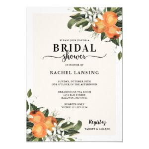 Orange Blossom Bridal Shower Invitation starting at 2.40