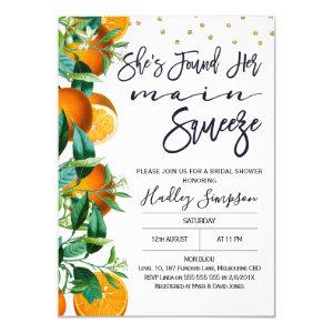 Orange Main Squeeze Bridal Shower Invitation starting at 2.10