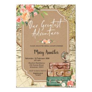 Our Greatest Adventure Bridal Shower Invitation starting at 2.55