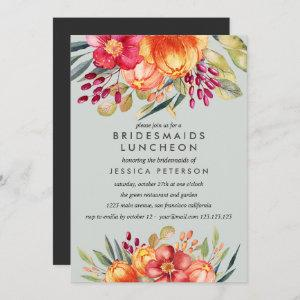 Painted  Flowers Bridesmaids Luncheon Wedding Invitation starting at 2.51