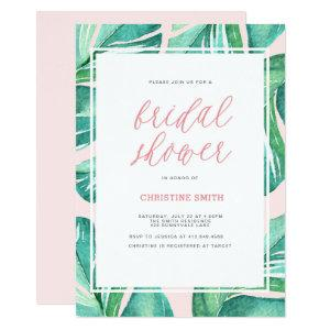Palm Leaves Tropical Bridal Shower Invitation starting at 2.51