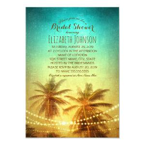Palm Tree Sunset Beach Themed Bridal Shower Invitation starting at 2.35