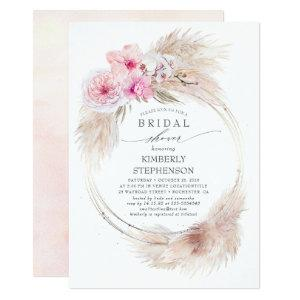 Pampas Grass and Pink Orchids Exotic Bridal Shower Invitation starting at 2.51