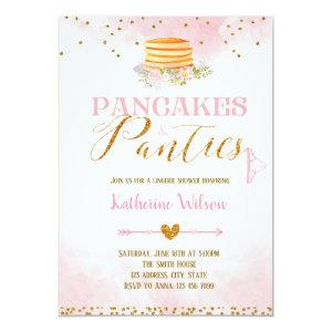 Pancakes and panties lingerie card invitation starting at 2.56