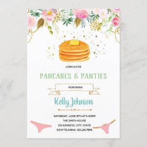 Pancakes and Panties Lingerie Shower Invitation starting at 2.50