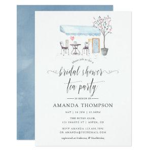 Paris Cafe Watercolor Bridal Shower Tea Party Invitation starting at 2.66