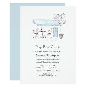 Paris Cafe Watercolor Pop Fizz Clink Bridal Shower Invitation starting at 2.66