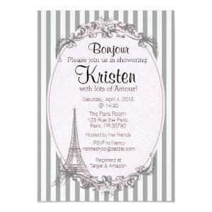 Paris Chic invitation for a shower starting at 2.77