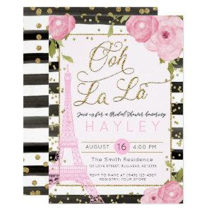 Paris Eiffel Tower Black Gold Bridal Shower Invite starting at 2.55