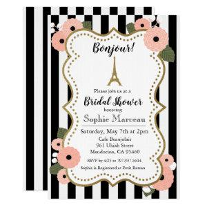 Paris Eiffel Tower Floral Bridal Shower Invitation starting at 2.50