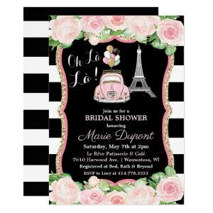 Paris Floral Travel Theme Bridal Shower Invitation starting at 2.50